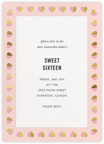 Better Halves Border - Pavlova - kate spade new york - Sweet 16 invitations