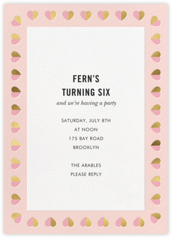 Better Halves Border - Pavlova - kate spade new york - Online Kids' Birthday Invitations
