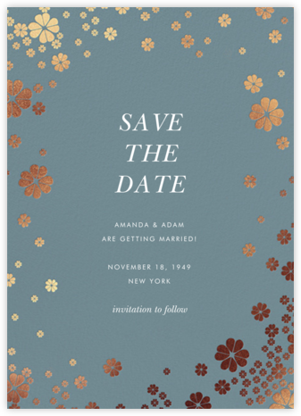 Clover and Over - Cadet - kate spade new york - Kate Spade invitations, save the dates, and cards