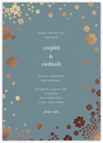 Clover and Over - Cadet - kate spade new york - Adult Birthday Invitations