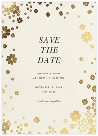 Clover and Over - Cream - kate spade new york - Kate Spade invitations, save the dates, and cards