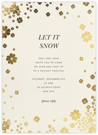 Clover and Over - Cream - kate spade new york - Holiday invitations