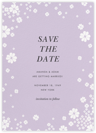 Clover and Over - Lilac - kate spade new york - Save the dates