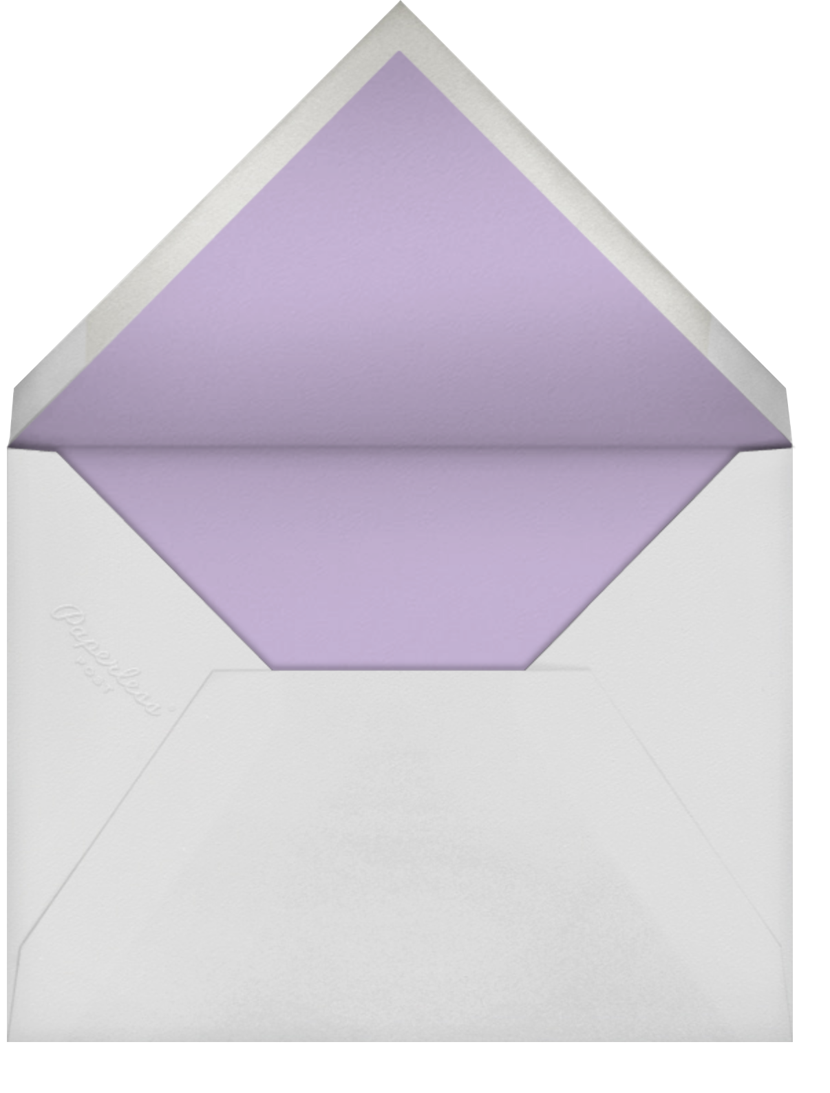 Clover and Over - Lilac - kate spade new york - Adult birthday - envelope back