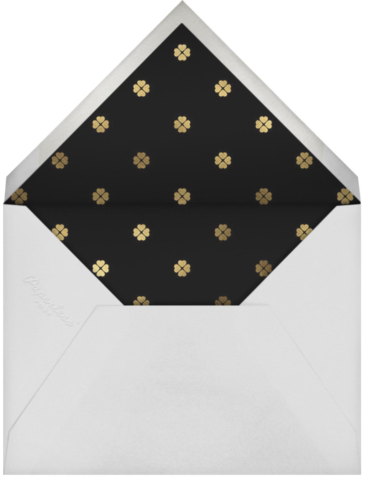 Colorblocked Border - Rose/Black - kate spade new york - Save the date - envelope back