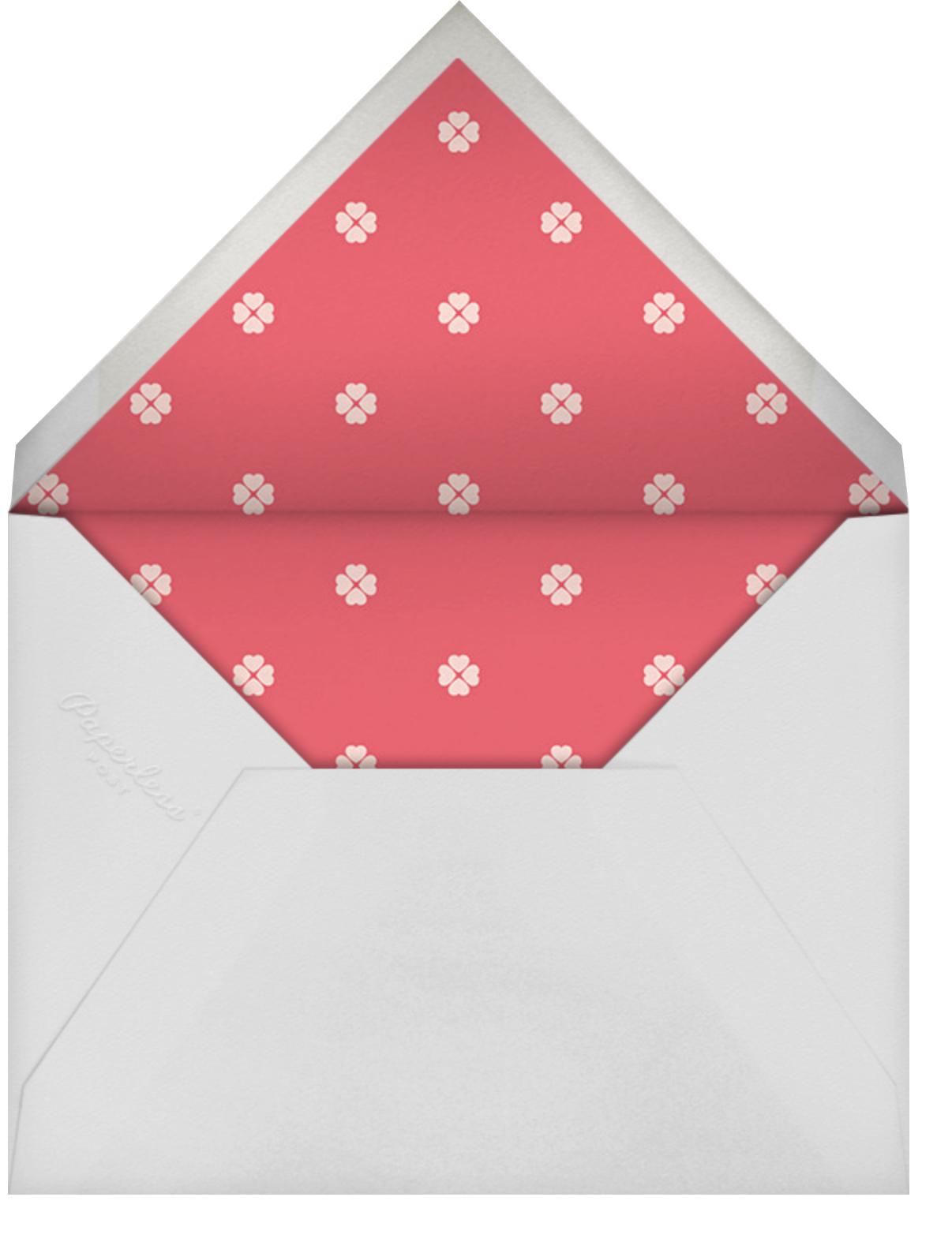 Colorblocked Border - Pink - kate spade new york - Valentine's Day - envelope back