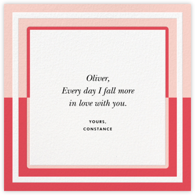 Colorblocked Border - Pink - kate spade new york - Valentine's Day Cards