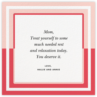 Colorblocked Border - Pink - kate spade new york - Mother's Day Cards