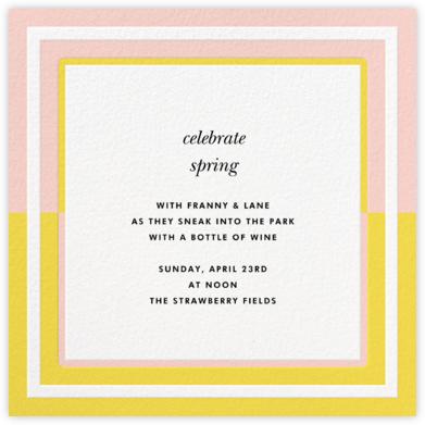 Colorblocked Border - Yellow/Pavlova - kate spade new york - Spring Party Invitations