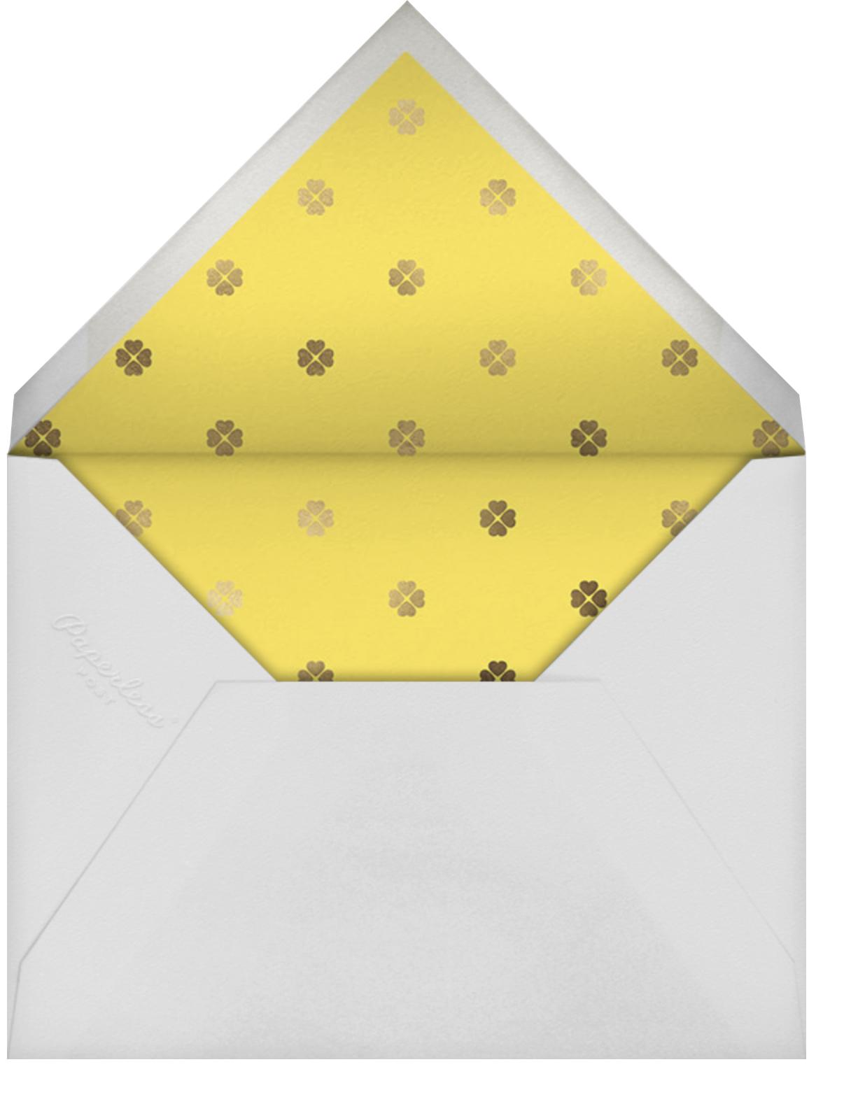 Colorblocked Border - Yellow/Pavlova - kate spade new york - Easter - envelope back