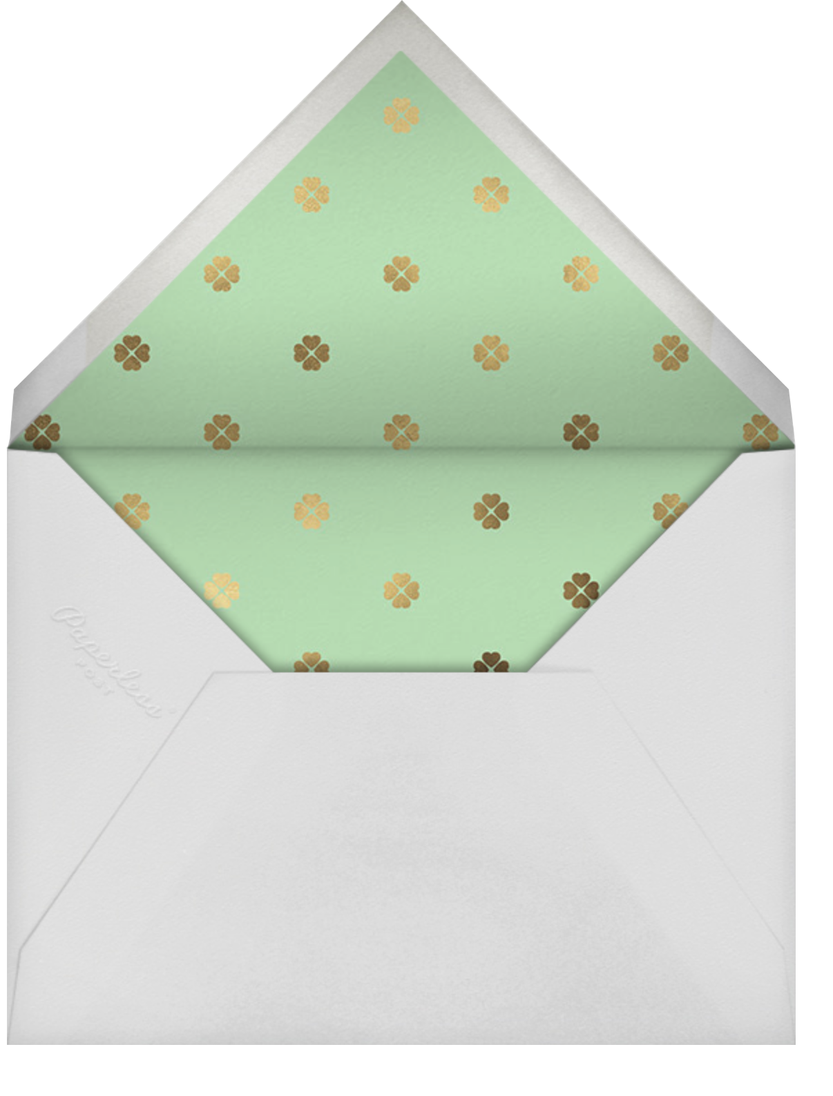 Colorblocked Stripes - Green/Blue - kate spade new york - Save the date - envelope back