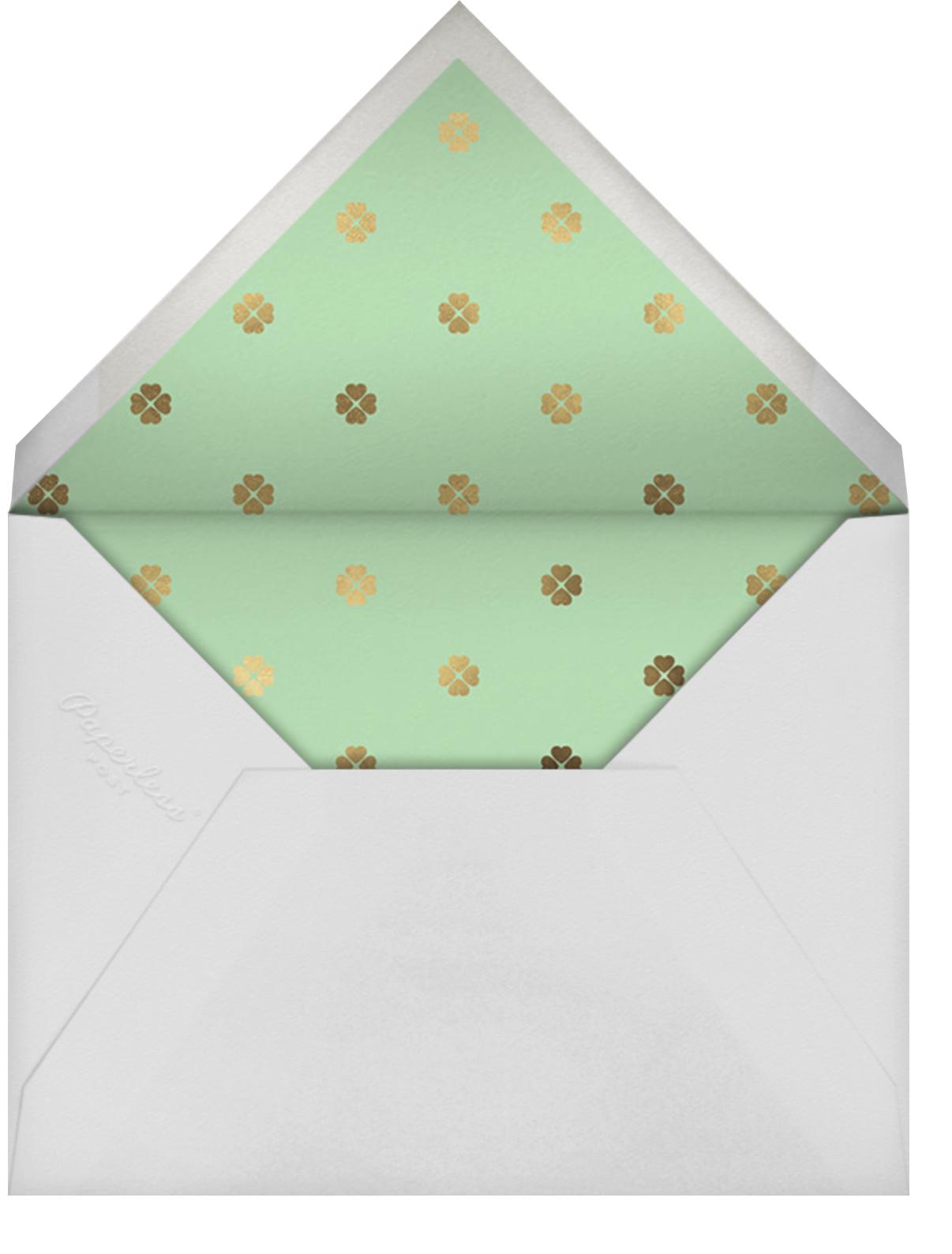 Colorblocked Stripes - Green/Blue - kate spade new york - Baby shower - envelope back