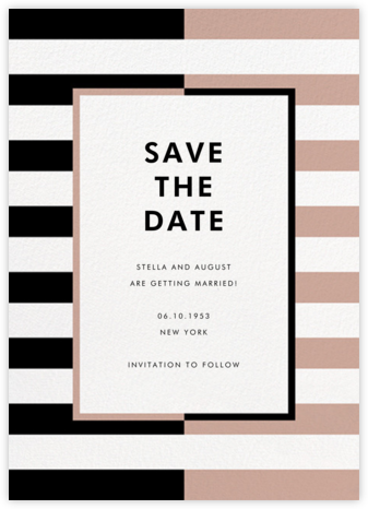 Colorblocked Stripes - Black/Rose - kate spade new york - Save the dates