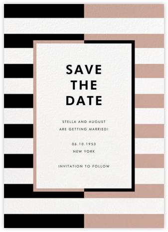Colorblocked Stripes - Black/Rose - kate spade new york - kate spade new york wedding