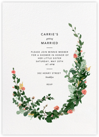 Rosedal - Blossom - Paperless Post - Bridal shower invitations