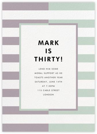 Colorblocked Stripes - Lilac/Mint - kate spade new york - Adult Birthday Invitations