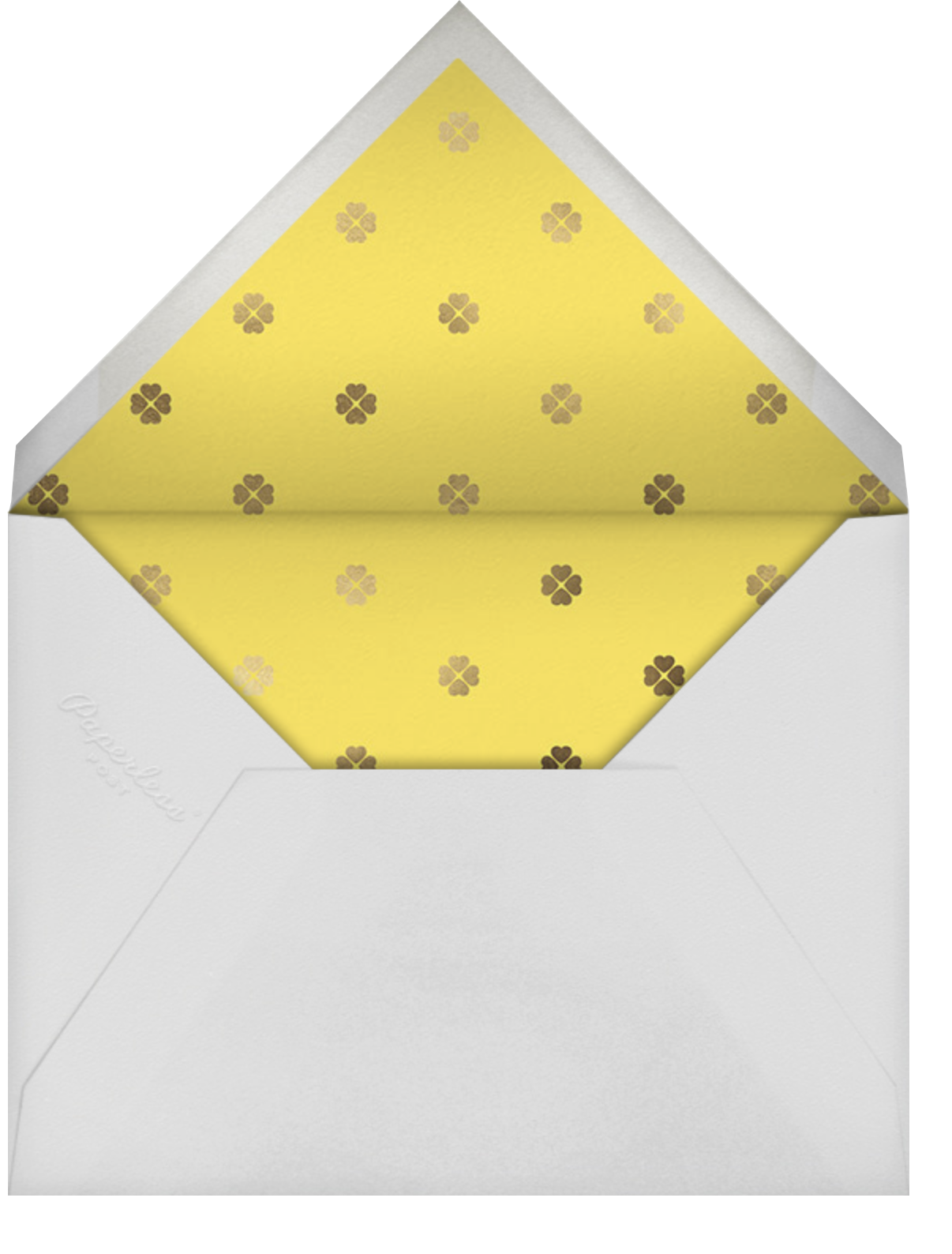 Colorblocked Stripes - Yellow/Pavlova - kate spade new york - Save the date - envelope back
