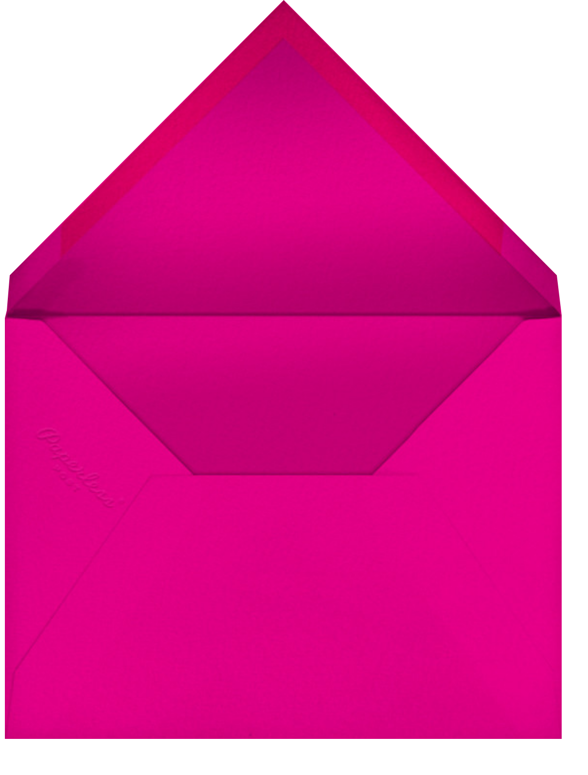 Maybe She's Born with It - Paperless Post - Bachelorette party - envelope back