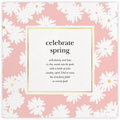 Embossed Daisies - Pavlova - kate spade new york - General Entertaining Invitations
