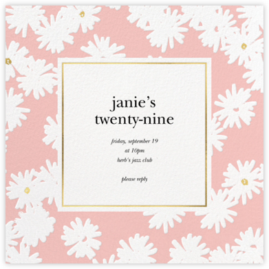Embossed Daisies - Pavlova - kate spade new york - Adult Birthday Invitations