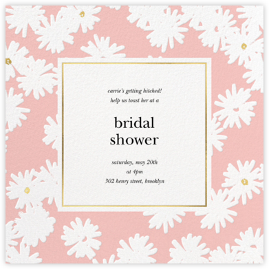 Embossed Daisies - Pavlova - kate spade new york - Bridal shower invitations