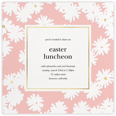 Embossed Daisies - Pavlova - kate spade new york - Easter Invitations