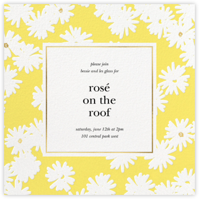 Embossed Daisies - Yellow - kate spade new york - Summer entertaining invitations