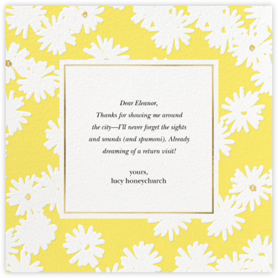 Embossed Daisies - Yellow - kate spade new york - Online Thank You Cards