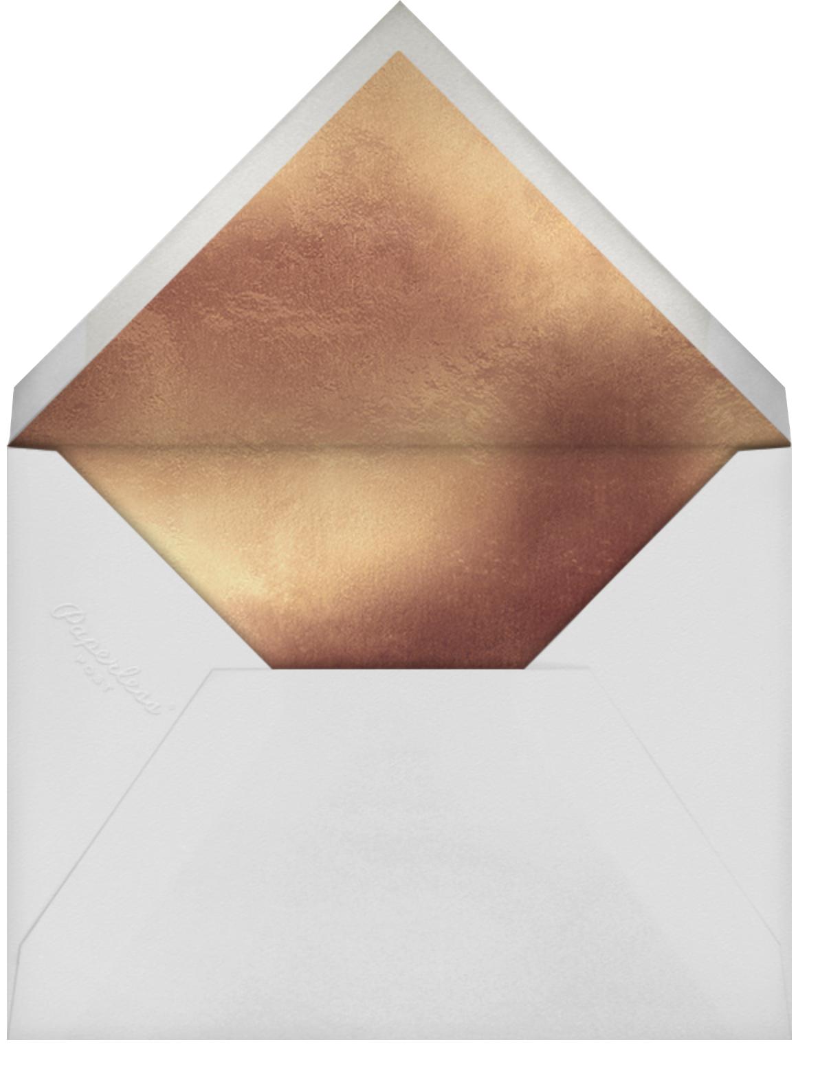 Embossed Daisies - Charcoal - kate spade new york - Birthday - envelope back