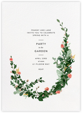 Rosedal - Blossom - Paperless Post - Spring Party Invitations