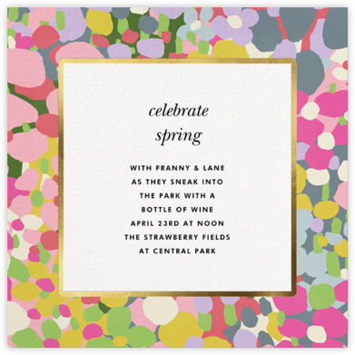 Fauve Border - kate spade new york - Online Party Invitations