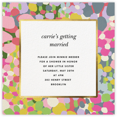 Fauve Border - kate spade new york - Bridal shower invitations
