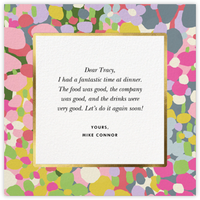 Fauve Border - kate spade new york - Online Thank You Cards