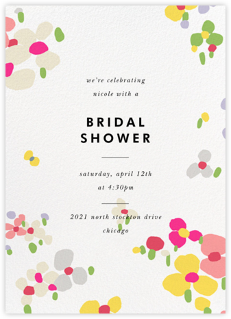 Fauvist Florals - kate spade new york - Bridal shower invitations