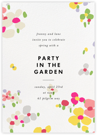 Fauvist Florals - kate spade new york - Kate Spade invitations, save the dates, and cards