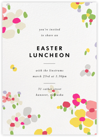 Fauvist Florals - kate spade new york - Easter invitations