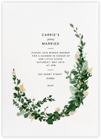 Rosedal - Athena - Paperless Post - Bridal shower invitations