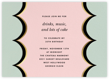 Intarsia Scallop - Mint - kate spade new york - Adult Birthday Invitations