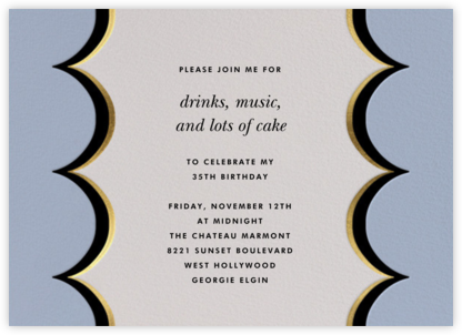 Intarsia Scallop - Blue - kate spade new york - Adult Birthday Invitations