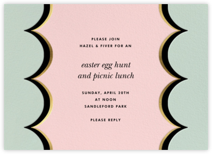 Intarsia Scallop - Mint - kate spade new york - Easter invitations
