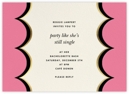 Intarsia Scallop - Pink - kate spade new york - Bachelorette Party Invitations