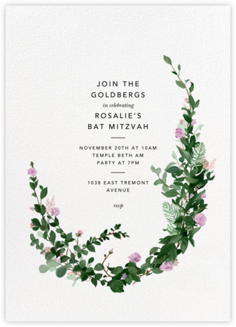 Rosedal - Lilac - Paperless Post - Bar and Bat Mitzvah Invitations