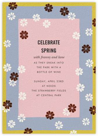 Mod Clover - Spring Rain/Pavlova - kate spade new york - Kate Spade invitations, save the dates, and cards
