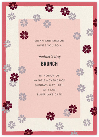 Mod Clover - Cream/Pink - kate spade new york - Online Mother's Day invitations