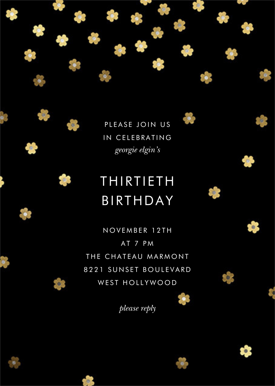 Orchid Shower (Tall) - kate spade new york - Kate Spade invitations, save the dates, and cards