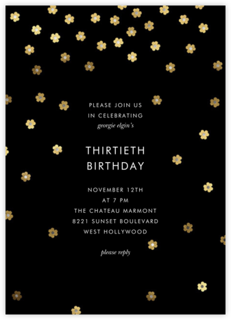Orchid Shower (Tall) - kate spade new york - Adult birthday invitations