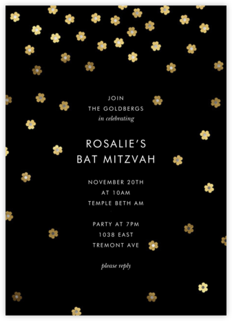 Orchid Shower (Tall) - kate spade new york - Bat and Bar Mitzvah Invitations
