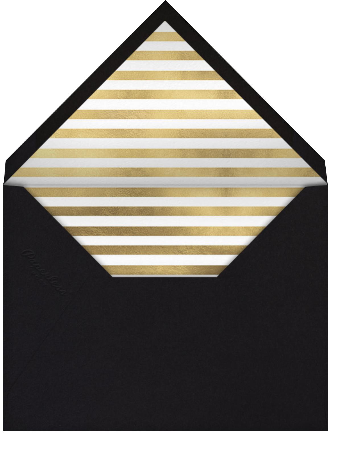 Orchid Shower (Square) - Black - kate spade new york - Birthday - envelope back