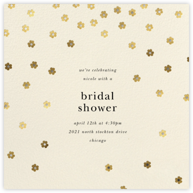 Orchid Shower (Square) - Cream - kate spade new york - Bridal shower invitations