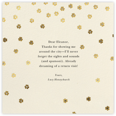 Orchid Shower (Square) - Cream - kate spade new york - Graduation Thank You Cards